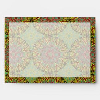 Yellow Fractal Pattern Envelope