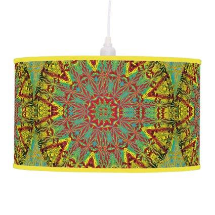 Yellow Fractal Pattern Lamp