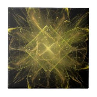 Yellow Fractal Pattern Tile