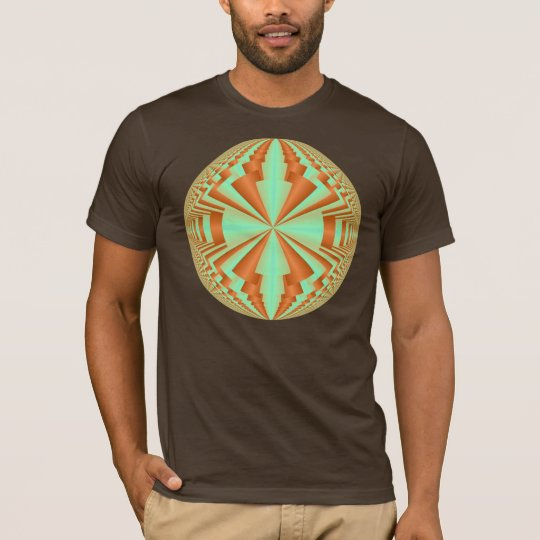 yellow fractal psychedelic ball T-Shirt