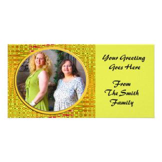 yellow frame card