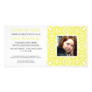 Yellow frame -Photo Graduation Party invites