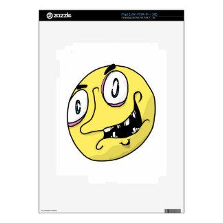 Yellow freak face iPad 2 decal