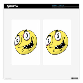 Yellow freak face kindle fire decals