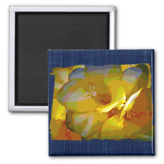 Yellow Freesia Digital Manipulation Magnet