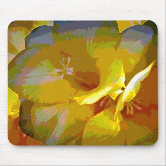 Yellow Freesia Digital Manipulation Mouse Pad