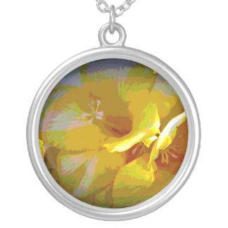 Yellow Freesia Digital Manipulation Necklaces