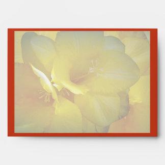 Yellow Freesia Floral Envelope