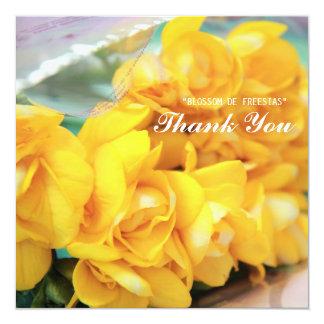 Yellow Freesias Thank you Card