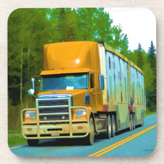 Yellow Freight Truck for Truckers & Truck-Lovers Coaster