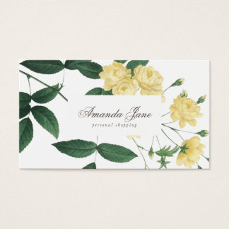 Yellow Fresh Blossoms Flowers Business Card
