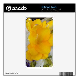 Yellow Fresia iPhone 4S Skin