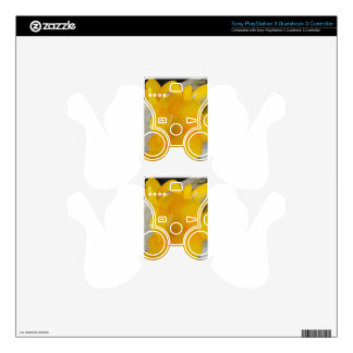Yellow Fresia PS3 Controller Decal