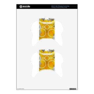 Yellow Fresia Xbox 360 Controller Skin