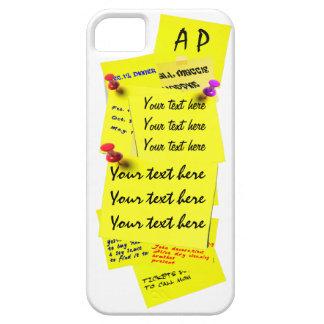 Yellow Fridge Note Sticker Template iPhone 5 Case