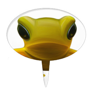 Yellow Frog Cake Topper