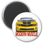 YELLOW_FRONT_CAMARO.png 2 Inch Round Magnet
