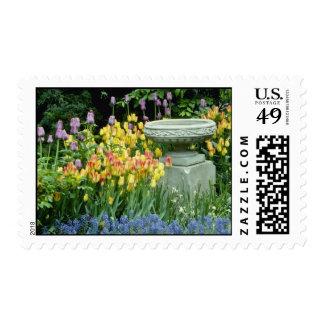 yellow Front garden of house in Westmount, Quebec, Stamps