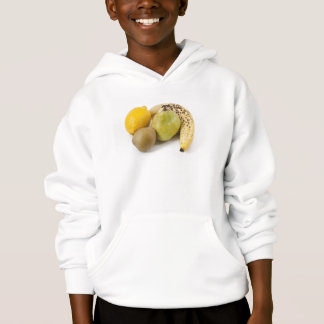 Yellow fruits on a white background hoodie