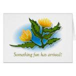 Yellow Fun Flower Greeting Cards