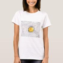 Yellow Fuzzy Rose T-Shirt