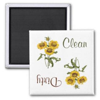 Yellow Gaillarda Flowers Dishwasher Magnet