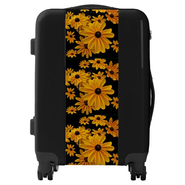 Yellow Garden Flowers Floral Luggage