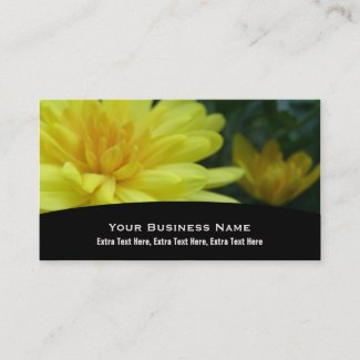 Yellow Garden Mum Business Card