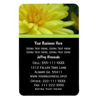 Yellow Garden Mum: Business Card: Premium Magnet premiumfleximagnet