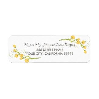Yellow Garden Roses Return Address Labels Return Address Label
