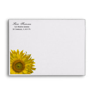 Yellow Garden Sunflower Envelope