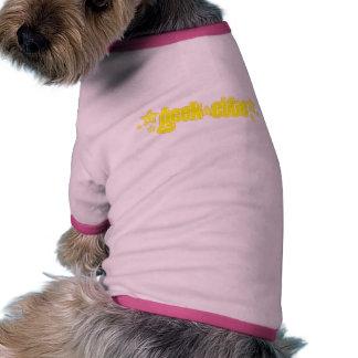 Yellow Geekette Doggie Tshirt