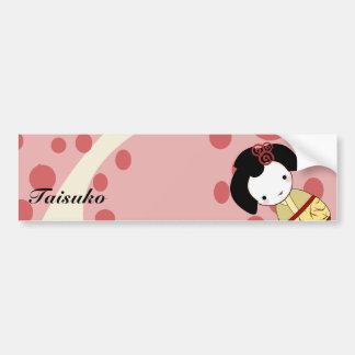 Yellow Geisha Bumper Sticker