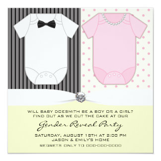 Yellow Gender Reveal Party Invitations