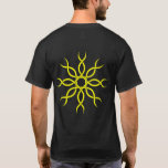 Yellow Geometric knotwork back design 4 T-Shirt