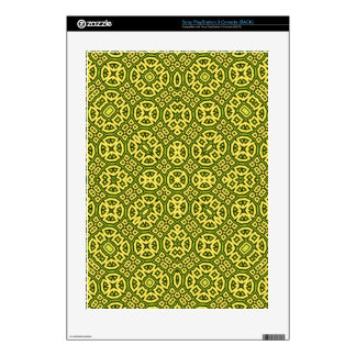 Yellow Geometric Pattern PS3 Decals