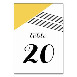 Yellow Geometric Stripe Table Card
