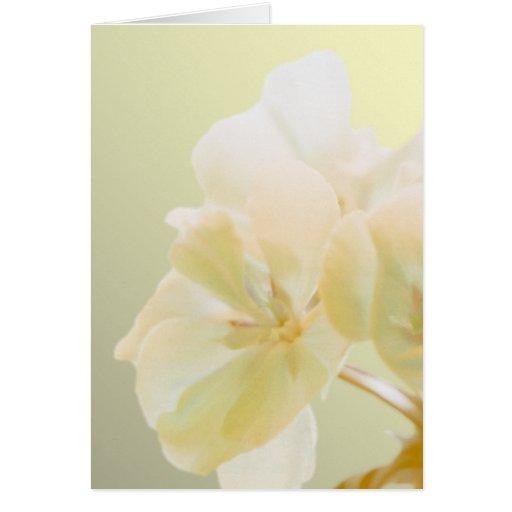 Yellow Geranium Card