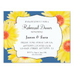 Yellow Gerber Daisies Rehearsal Dinner Personalized Invite