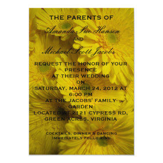 Yellow Gerber Daisies Wedding Invitations