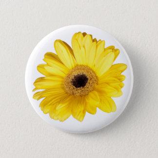 Yellow Gerber Daisy Close Up Photograph Pinback Button
