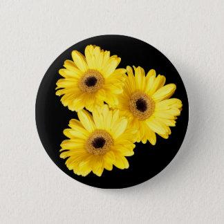 Yellow Gerber Daisy Close Up Photographs Pinback Button