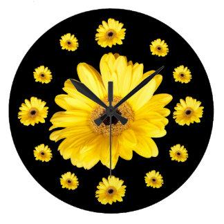 Yellow Gerber Daisy Photographs Clocks