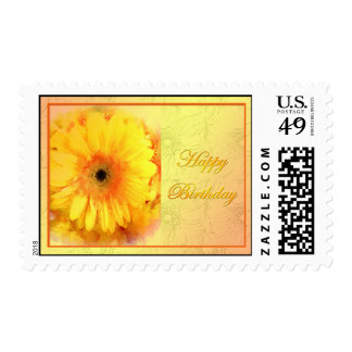 Yellow Gerbera Birthday Postage
