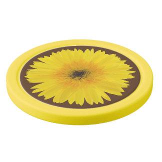 Yellow Gerbera Clay Poker Chips