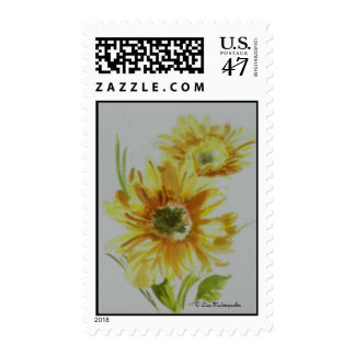 Yellow Gerbera Daisies Postage Stamp