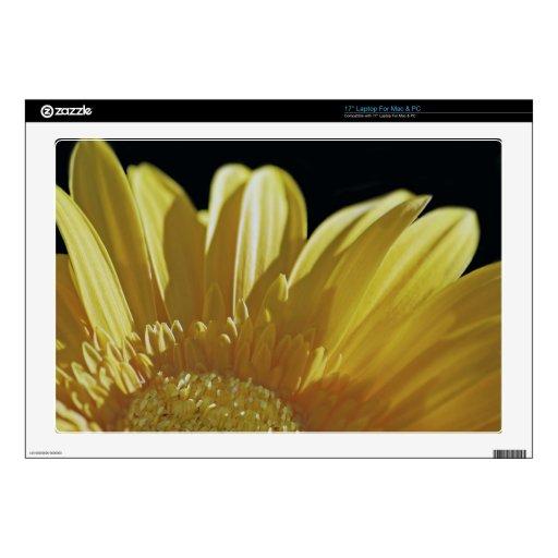 "Yellow Gerbera Daisy 17"" Laptop Decal"