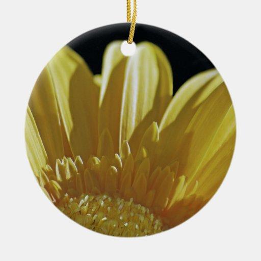 Yellow Gerbera Daisy Christmas Ornament