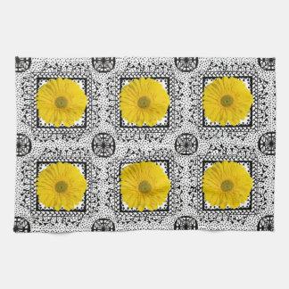 Yellow Gerbera Daisy Dish Towel