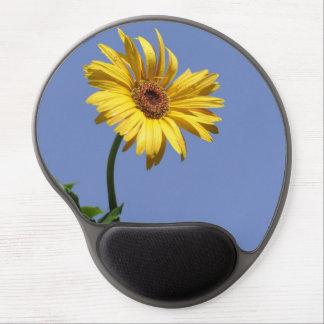 Yellow gerbera daisy flower Gel Mousepad